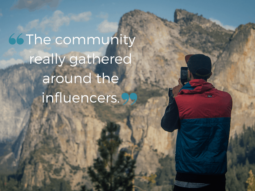 The community really gathered around the influencers.
